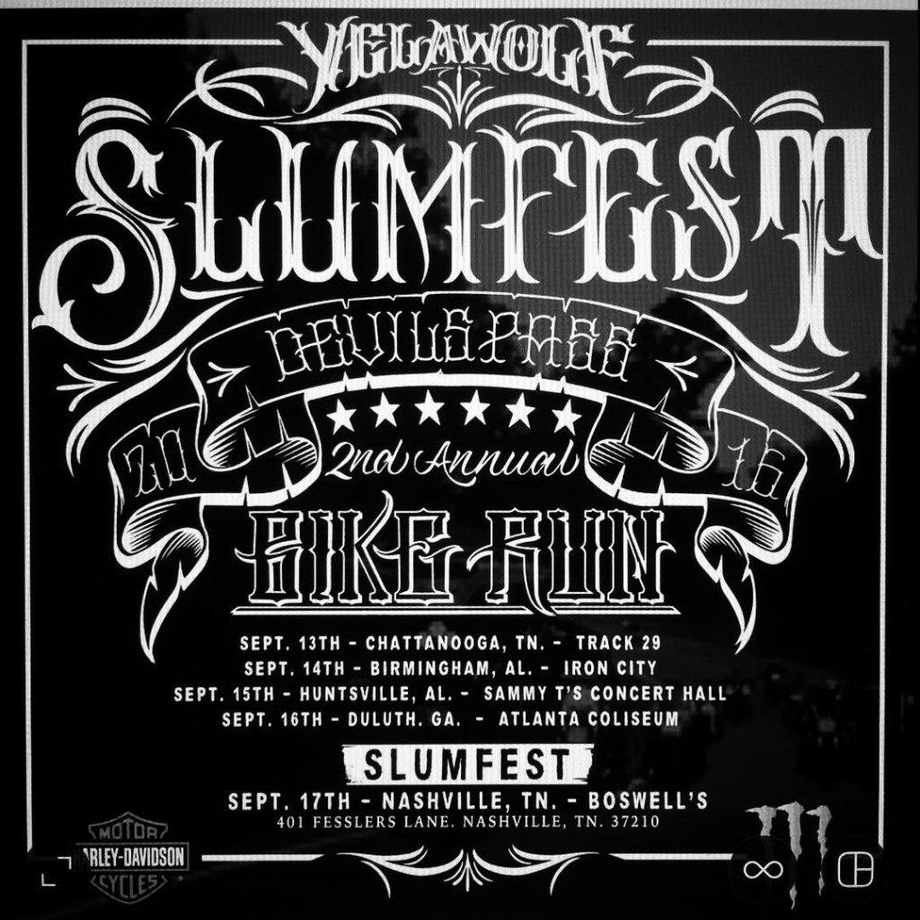 Прими участие в Slumfest-байк пробеге с Yelawolf и друзьями