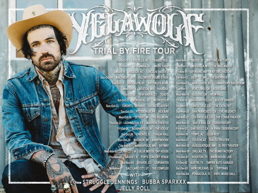 График тура Yelawolf Trial By Fire Tour 2016